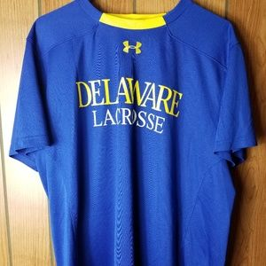 Under Armour Delaware Lacrosse Jersey Tshirt XL